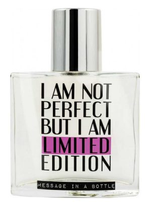 I Am Not Perfect But I Am Limited Edition Message in a Bottle